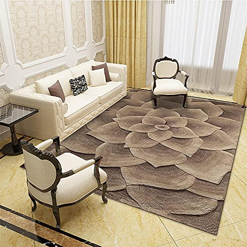 Anti-Sucio La Alfombrer Gris Alfombra de sala de estar gris flores minimalistas retro antideslizante alfombra de lavado de agua no lastimar el piso antiácaros Dormitorios Moqueta80x120cm 2ft 7.5''X3ft