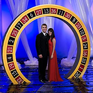 Vegas Casino Party Roulette Arch Standup Photo Booth Prop Background Backdrop Party Decoration Decor Scene Setter Cardboard Cutout