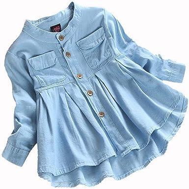 3-8 años Ropa para niñas, Camiseta Vaquera para niñas ...