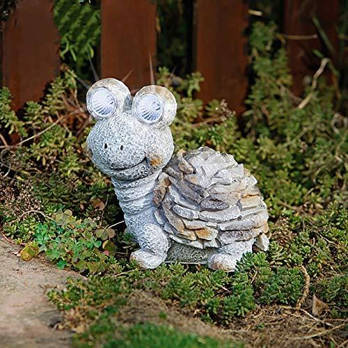 ZLJ Estatua de decoración de jardín Solar de Tortuga Escultura Decorativa iluminada Acentos Figura de césped al Aire Libre para Patio Patio Trasero Resistente a la Intemperie A