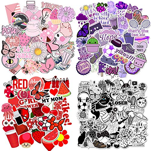 200 Pcs Stickers for Water Bottles,Cute Vsco Stickers,Cute Funny Stickers for Teens,Girls,Perfect for Waterbottle,Laptop,Hydro Flask Travel Vinyl Stickers Waterproof