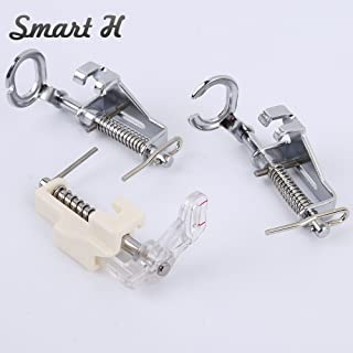 3pcs Large Metal Darning/Free Motion Sewing Machine Presser Foot for All Low Shank Brother Singer Babylock Janome and More Sewing Machines - Include Close Toe, Open Toe and Quilting Foot