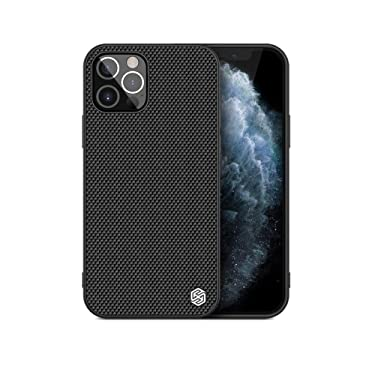 """Nillkin Case for Apple iPhone 12 / Apple iPhone 12 Pro (6.1"""" Inch) Textured Series Nylon Fiber Tough & Durable PC + TPU Material Luxury Protect Black"""