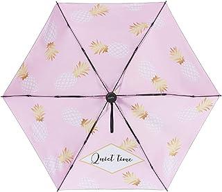 折りたたみ傘 パイナップル 晴雨兼用 レディース 完全遮光 UVカット 紫外線対策 日傘 可愛い オフェス ホワイト/ピンク