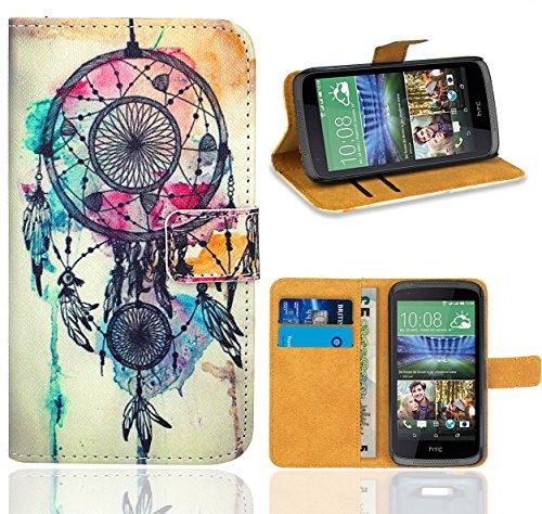 HTC Desire 526 526G Handy Tasche, FoneExpert Wallet Hülle Flip Cover Hüllen Etui Ledertasche Lederhülle Premium Schutzhülle für HTC Desire 526 526G