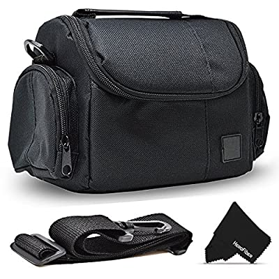 Well Padded Fitted Compact Medium DSLR Camera Case Bag w/Zippered Pockets and Accessory Compartments for Canon EOS Rebel T7i T6i T6S T5i T5 T4i T3i T3 T2i SL1 EOS 80D 0D 60D 7D 6D 5D 750D 700D 650D