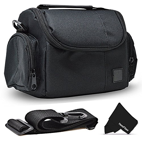 Well Padded Fitted Compact Medium DSLR Camera Case Bag w/ Zippered Pockets and Accessory Compartments for Canon EOS Rebel T8i T7 T7i T6i T6S T5i T5 T4i T3i SL1 EOS 90D 80D 0D 60D 7D 6D 5D 750D 700D