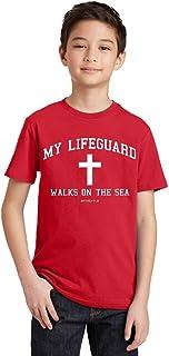 P&B My Lifeguard Walks On The Sea Christian Youth T-Shirt