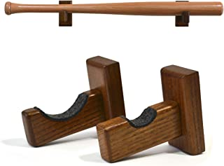 TESLYAR Baseball Bat Wall Mount for Horizontal Display - Solid Ash Tree Hidden Screws Handmade