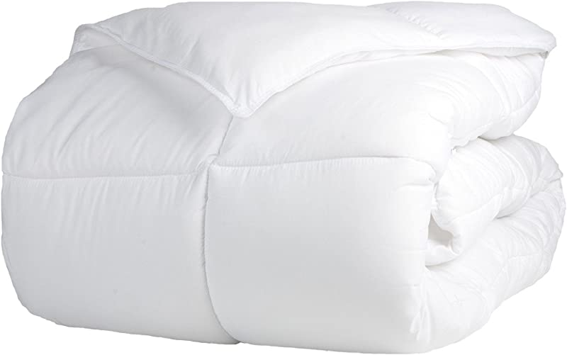 Superior Solid White Down Alternative Comforter Duvet Insert Medium Weight For All Season Fluffy Warm Soft Hypoallergenic Full Queen Bed
