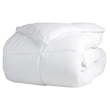 Superior Solid White Down Alternative Comforter, Duvet Insert, Medium Weight for All Season, Fluffy, Warm, Soft & Hypoallergenic - King Bed