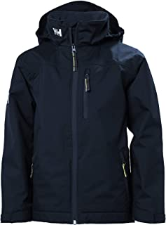 Helly Hansen Junior Crew Midlayer Waterproof Quick Dry Lined Sail and Rain Jacket