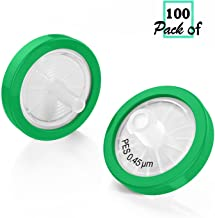 Syringe Filter PES(Polyethersulfone) 25mm Diameter 0.45um Pore Size Non Sterile 100/pk by Biomed Scientific