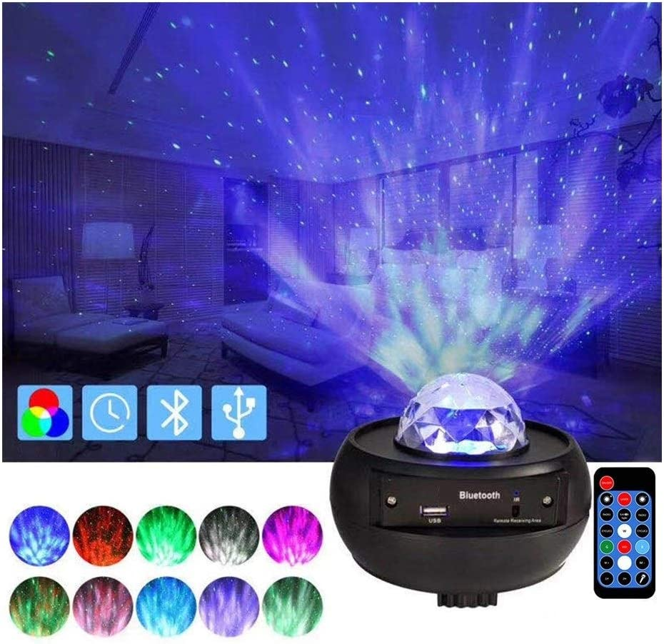 Starry Free Shipping New New Shipping Free Projector LED Night Lights Star Wave Ocean with