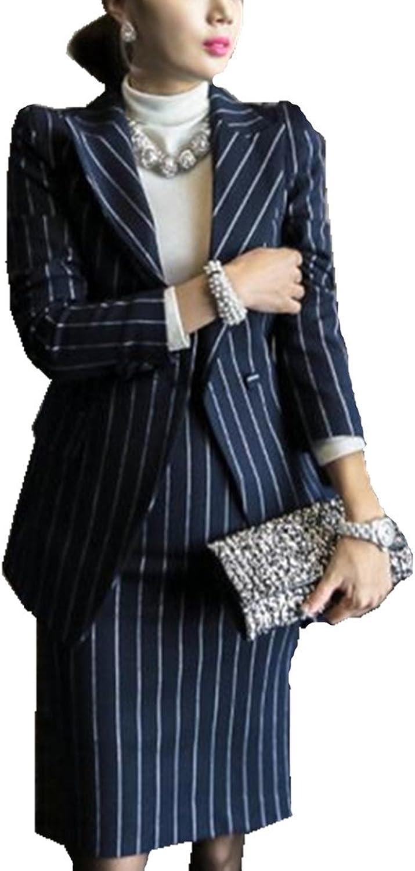 BCSY Womens Office Work Blazer and Sleeveless Midi Dress Suit Set