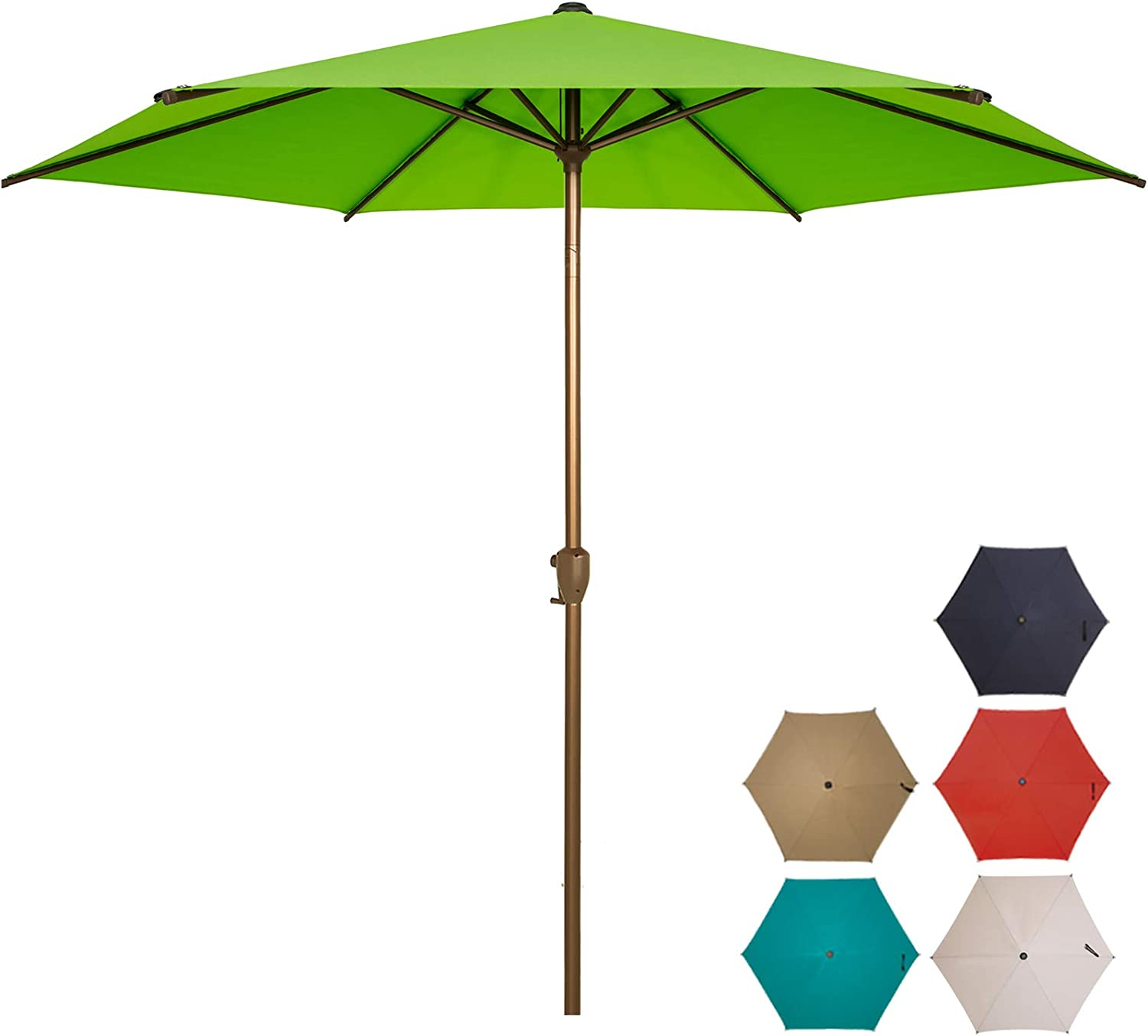 Ogrmar 記念日 驚きの値段で 9 FT Patio Umbrella Table Outdoor Butt with Push