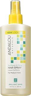 Andalou Naturals Medium Hold Hair Spray Sunflower and Citrus - 8.2 fl oz