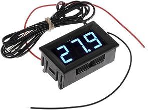 Color: como muestra la imagen Term/ómetro digital LCD Medidor LCD Detector Medidor PC Car Mod C//F Montaje en panel Molex con pantalla de retroiluminaci/ón azul