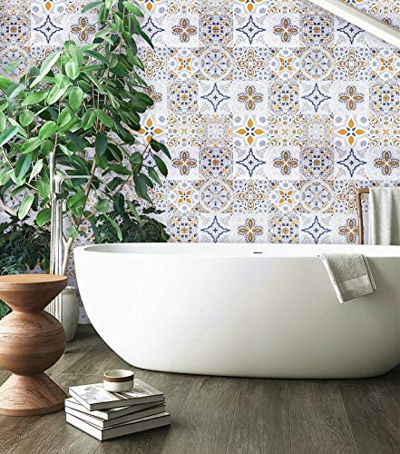EeeComing Gray Tile Contact Paper Gray Peel and Stick Wallpaper Self Adhesive Removable Wallpaper product image