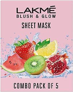 Lakme Blush and Glow Sheet Mask 25 ml (Pack of 5)