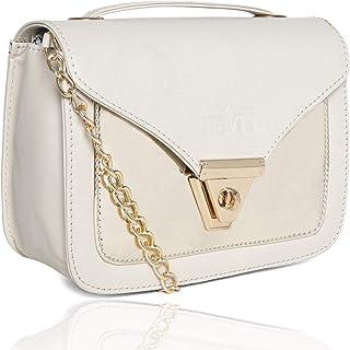 Nevis Pu Synthetic Elegant Slingbag/Crossbody Handbag/Side Shoulder Sling Bag For Women With Chain Strap