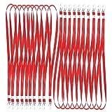 (Aideaz) 名札 ストラップ くびかけ ひも 穴が開かない ネックストラップ スマホ デジカメ 鍵 携帯ストラップ首かけ (赤 50本)