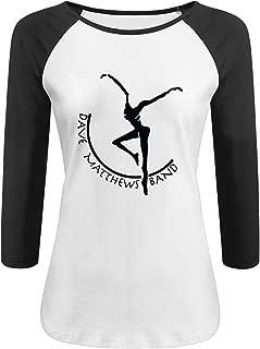 LOVEHOLIC DMB Dave Matthews Band Women's 3/4 Sleeve Raglan T Shirt