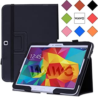 WAWO Samsung Galaxy Tab 4 10.1 Inch Tablet Smart Cover Creative Folio Case (Black)