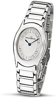 Philip Watch - Diamonds R8253187615 - Reloj de Mujer de Cuarzo, Correa de Acero Inoxidable Color Plata