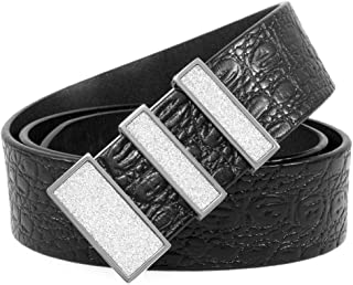 Mancala Mens Leather Belt Genuine Leather with Fashion Buckle, Great for Dress & Jeans