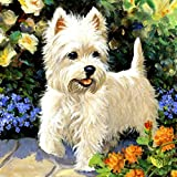 Yehapp 5D Diamond Painting Kit para niños Adultos, Animales Dog Puppy 5D Diamond Painting Set Números de Punto de Cruz Wall Art Home Deco, 25x30cm