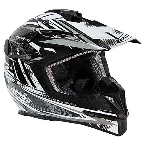 ROCC 724 Offroad Helm (S, schwarz/weiß)