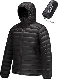 Men's Packable Hooded Puffer Jacket Lightweight Water...