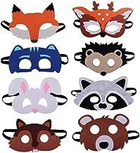 Máscaras de Espuma para Niños, Hermosas y Lindas Máscaras De Animales Son Los Juguetes Favoritos para Todos Los Niños Adecuados para Niños Navidad Halloween Fiestas Cumpleaños Cosplay, 8Pcs
