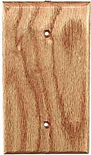 Sierra Lifestyles Traditional Switch Plate, 1 Blank, Red Oak