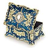 Hipiwe Vintage Jewelry Box, Small Enameled Trinket Box Organizer...