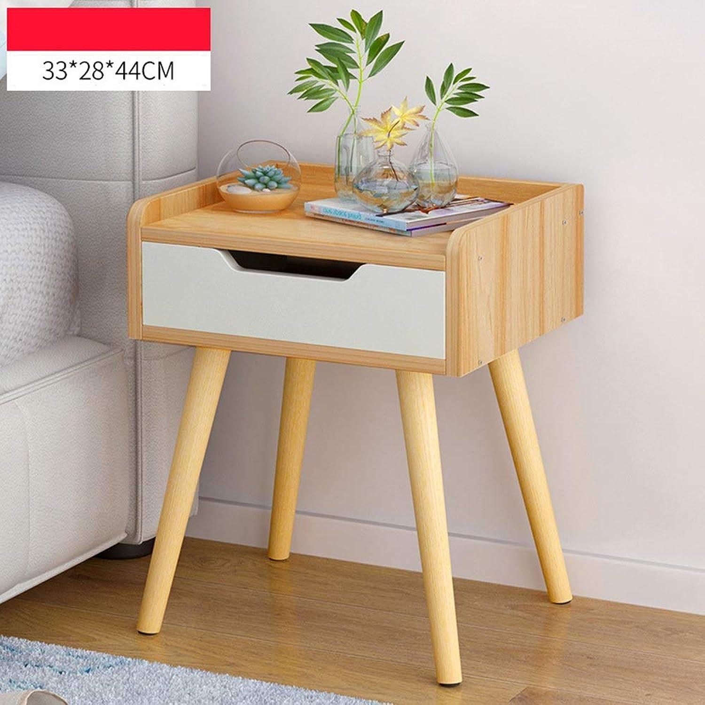 Sugoishop Bedside Table Drawer Cabinet Bedside Cabinet Corner Cabinet Bedroom Storage Locker (color   9)