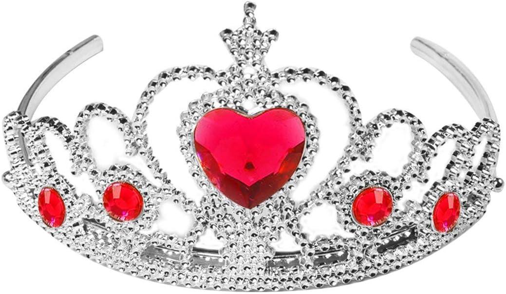 Cosye Couronne de Romance de Glace Ensemble Coeur de Bijoux de Princesse pour Enfants avec Couronne de Diamant Hair Wear