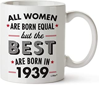 80th Birthday Gifts For Women Eighty Years Old Gift Mugs Happy Funny 80 Womens Womans Wifes Female Best Friend 1939 Mug Unique Ideas 39 Woman Wife Gag Dad Cute Girls Good Husband
