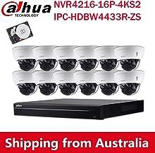 Dahua 4MP Varifocal PoE IP Security Camera System, 2.7mm~13.5mm Motorized 5X Optical Zoom Outdoor Surveillance Camera,4K 1...