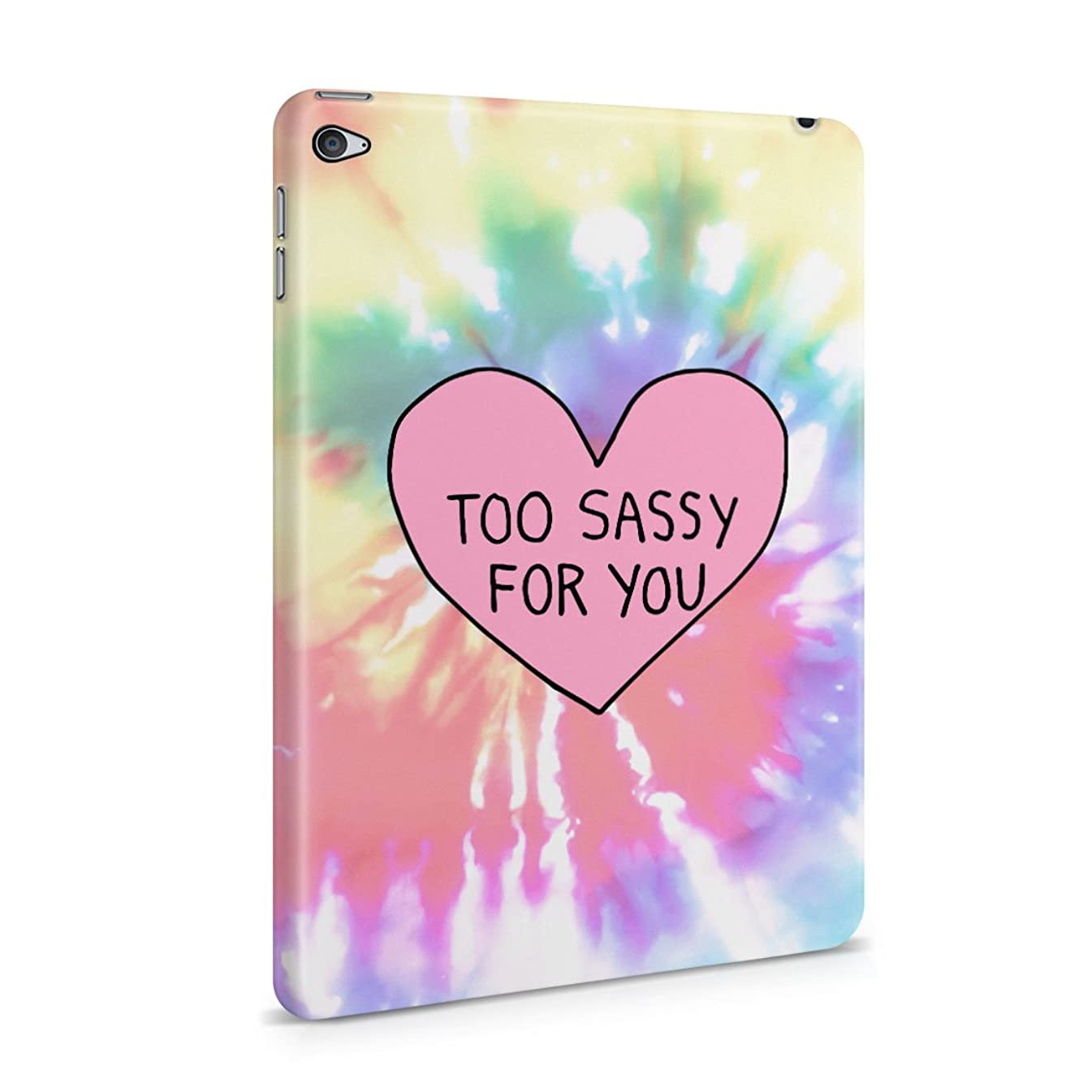 Too Sassy For You Heart Trippy Tie Dye Plastic Tablet Snap On Back Cover Shell For iPad Mini 4