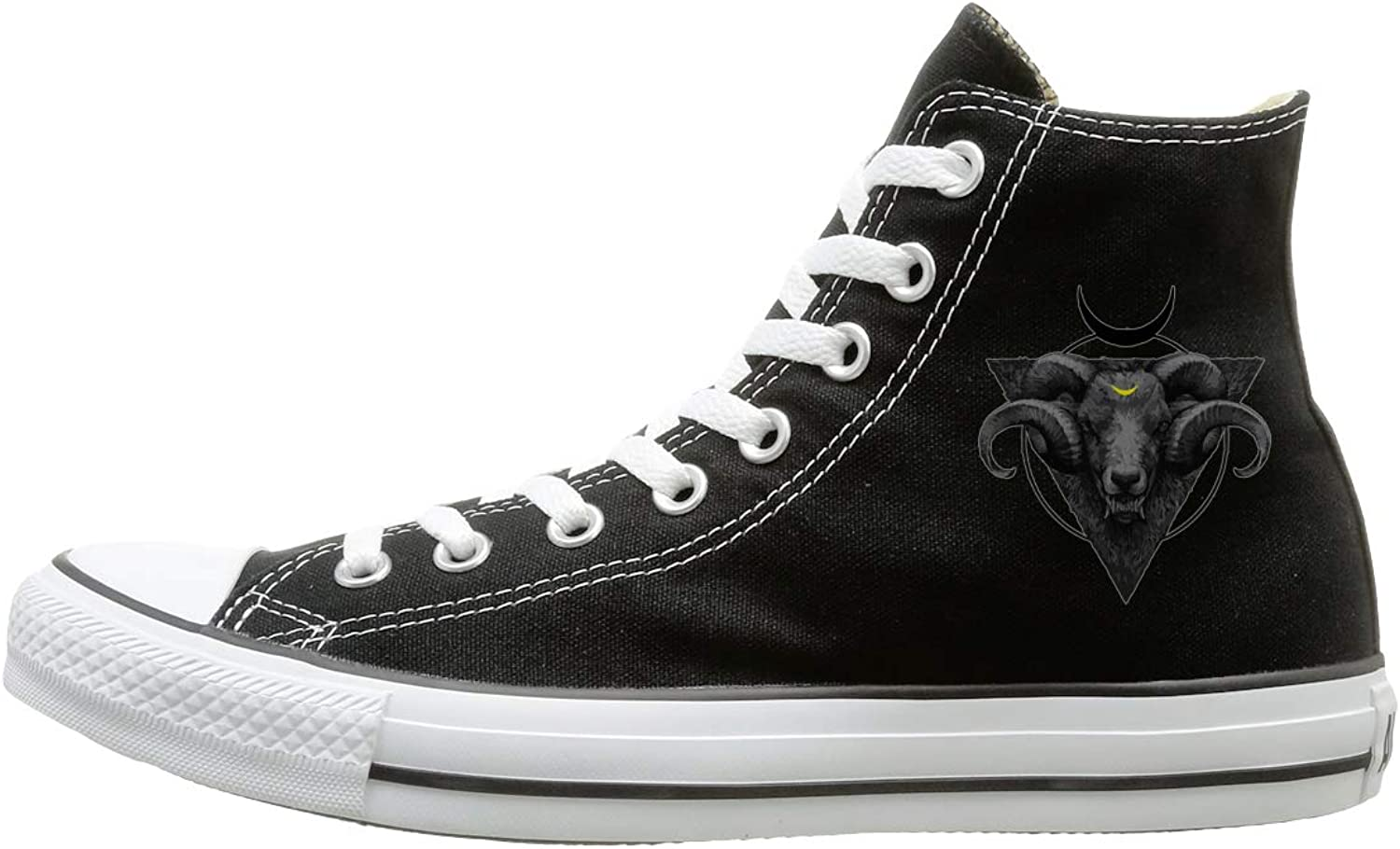 Satanic Baphomet Goats Unisex Casual High-Top shoes Comfortable And Durable In Rubber Sole