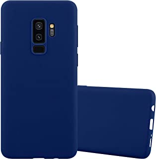 Cadorabo Case works with Samsung Galaxy S9 PLUS in CANDY DARK BLUE - Shockproof and Scratch Resistant TPU Silicone Cover -...
