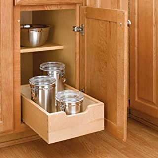 Rev A Shelf Small Wood Base Kitchen Under Sink Cabinet Pull Out Drawer, Natural