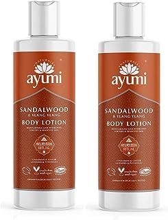 Ayumi Sandalwood & Ylang Ylang Body Lotion. Vegan, Cruelty-Free, Dermatologically-Tested, 2 x 250ml