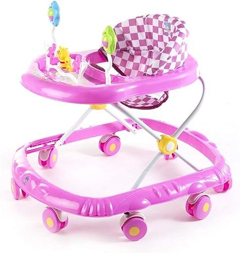 FAMILI DA Kinderwagen Baby Walker Blau Rosa Orange 6-18 Monate Kind Anti-überschlag Multifunktion Zusammenklappbar Mit Musik Größe R r Spielzeug Wagen 66  56  57 cm Für Neugeborene-Rosa