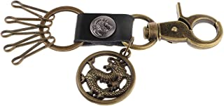 Dolity Steampuck Style Keyring Keychain Key Fob Pendant for Luggage Bag Decoration - Dragon