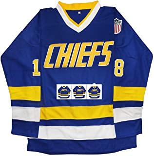 vinking Hanson Brothers Jersey, Charlestown Chiefs 16,17,18 Slap Shot Ice Hockey Movie Jersey