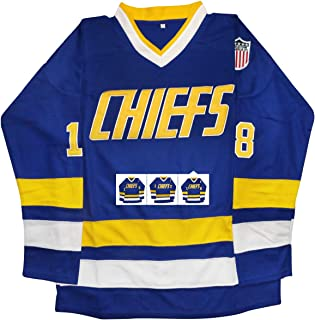 vinking Hanson Brothers Jersey, CharlestownChiefs16,17,18Slap Shot Ice Hockey Movie Jersey