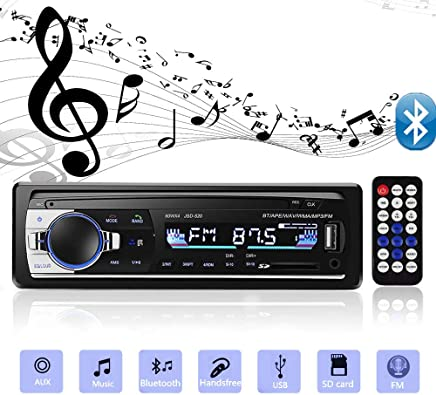 $24 Get Aigoss Bluetooth Car Stereo, 4x60W Car Audio FM Radio, MP3 Player USB/SD/AUX Hands Free Calling with Wireless Remote Control